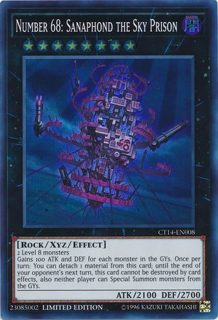 Number 68: Sanaphond the Sky Prison - Super Rare - CT14-EN008