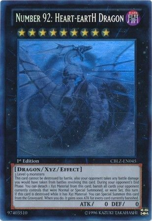 Number 92: Heart-eartH Dragon - Ghost Rare - CBLZ-EN045