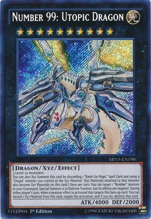 Number 99: Utopic Dragon - Secret Rare - MP15-EN190