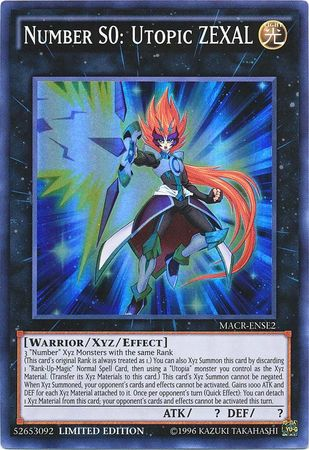 Number S0: Utopic ZEXAL - Super Rare - MACR-ENSE2
