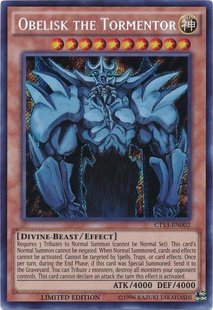 Obelisk the Tormentor - Secret Rare - CT13-EN002