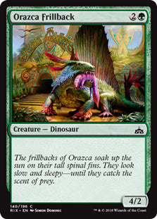 Orazca Frillback - Common - RIX140 Wizards of the Coast | Cardboard Memories Inc.