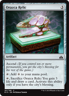 Orazca Relic - Common - RIX181 Wizards of the Coast | Cardboard Memories Inc.