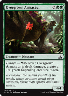 Overgrown Armasaur - Common - RIX141 Wizards of the Coast | Cardboard Memories Inc.