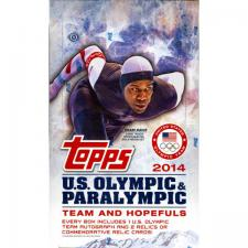 2014 Topps U.S. Olympic & Paralympic Team and Hopefuls Hobby Box Topps | Cardboard Memories Inc.