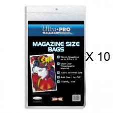 Magazine Bags - Resealable - Package of 100 - Case of 10 Ultra Pro | Cardboard Memories Inc.
