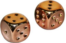 Chessex Dice - Copper Plated - Set of 2 (CHX 29011) Chessex | Cardboard Memories Inc.