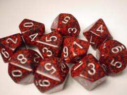 Chessex Dice - Speckled Silver Volcano - Set of Ten D10 - CHX 25144