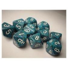 Chessex Dice - Speckled Sea - Set of Ten D10 (CHX 25116) Chessex | Cardboard Memories Inc.