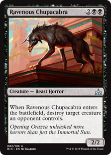Ravenous Chupacabra  - Uncommon - RIX082 Wizards of the Coast | Cardboard Memories Inc.