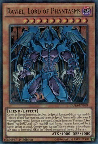 Konami - Yu-Gi-Oh! - Raviel Lord of Phantasms - Ultra Rare 1st Edition - DUSA-EN098