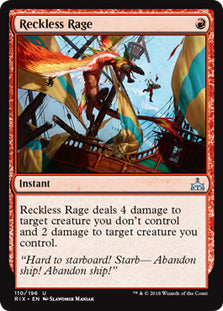 Reckless Rage - Uncommon - RIX110 Wizards of the Coast | Cardboard Memories Inc.