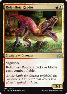 Relentless Raptor - Uncommon - RIX169 Wizards of the Coast | Cardboard Memories Inc.