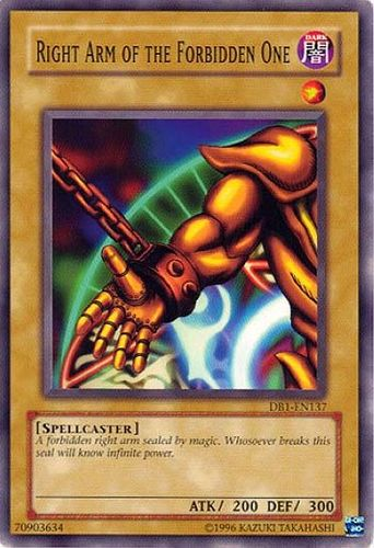 Konami - Yu-Gi-Oh! - Right Arm of the Forbidden One - Common - DB1-EN137