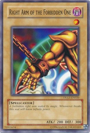 Konami - Yu-Gi-Oh! - Right Arm of the Forbidden One - Common - DLG1-EN020