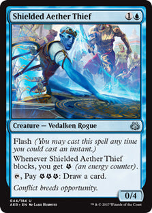 Shielded Aether Thief - Uncommon  AER044 Wizards Of the Coast | Cardboard Memories Inc.