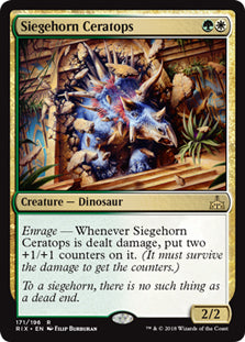 Siegehorn Ceratops - Rare - RIX171 Wizards of the Coast | Cardboard Memories Inc.