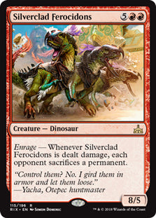 Silverclad Ferocidons - Rare - RIX115 Wizards of the Coast | Cardboard Memories Inc.