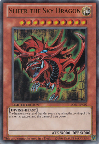 Slifer The Sky Dragon LC01-EN002 Ultra Rare Limited edition NM!
