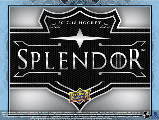 2017-18 Upper Deck Splendor Hockey Hobby Box (PRE-ORDER) Upper Deck | Cardboard Memories Inc.
