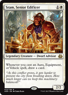 Sram, Senior Edificer - Rare  AER023 Wizards of the Coast | Cardboard Memories Inc.