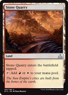 Stone Quarry - Uncommon - RIX190 Wizards of the Coast | Cardboard Memories Inc.