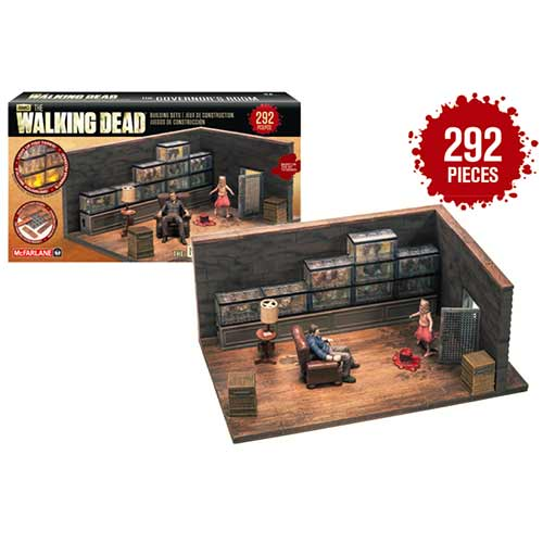 Walking Dead Building Sets - The Governor's Room McFarlane Toys | Cardboard Memories Inc.