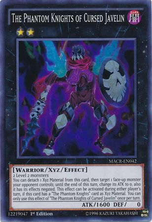 The Phantom Knights Of Cursed Javelin - Super Rare - MACR-EN042