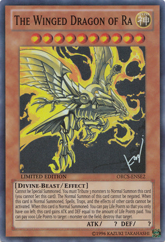 The Winged Dragon of Ra - Super Rare - ORCS-ENSE2