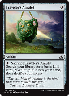 Traveler's Amulet - Common - RIX184 Wizards of the Coast | Cardboard Memories Inc.