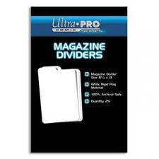 Ultra Pro Comic Series - Magazine Dividers Ultra Pro | Cardboard Memories Inc.