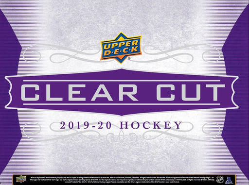 Upper Deck - 2019-20 - Hockey - Clear Cuts - Hobby Box - Pre-Order September 25th 2020