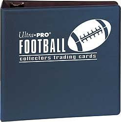 Binder 3 Inch Football Navy Ultra Pro | Cardboard Memories Inc.