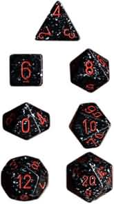 Chessex Dice - Speckled Space - Set of 7 (CHX 25308) Chessex | Cardboard Memories Inc.