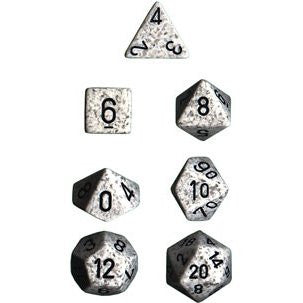 Chessex Dice - Speckled Arctic Camo - Set of 7 (CHX 25311) Chessex | Cardboard Memories Inc.
