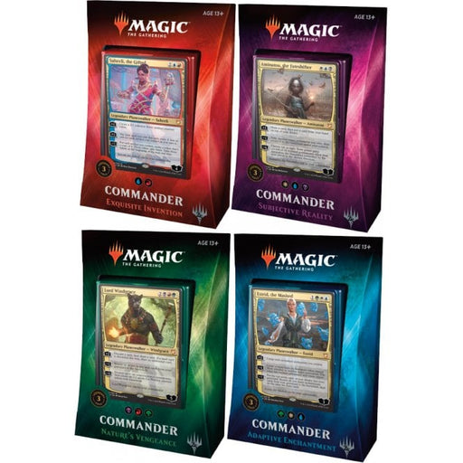 Magic the Gathering - 2018 Commander Deck - Set of 4