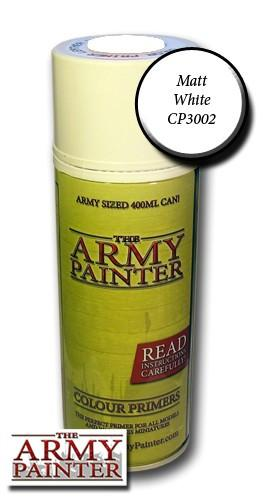 Army Painter - Base Primer Matt White Paint Spray The Army Painter | Cardboard Memories Inc.