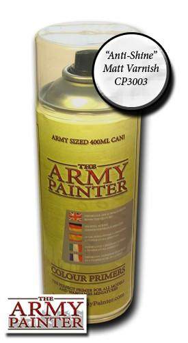 Army Painter - Anti-Shine Matt Varnish Paint Spray The Army Painter | Cardboard Memories Inc.