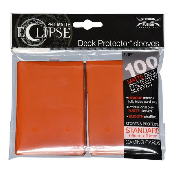 Ultra Pro - Eclipse Matte Deck Protectors - Standard Size - 100 Count Orange