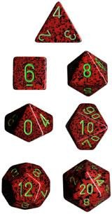 Chessex Dice - Speckled Strawberry - Set of 7 (CHX 25304) Chessex | Cardboard Memories Inc.