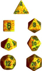 Chessex Dice - Speckled Lotus - Set of 7 (CHX 25312) Chessex | Cardboard Memories Inc.