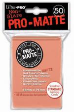 Deck Protectors - Standard Size - 50 Count Matte Peach Ultra Pro | Cardboard Memories Inc.