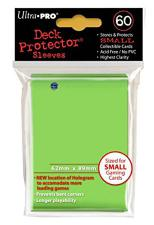 Deck Protectors - Small Yu-Gi-Oh! Size - 60 Count Lime Green Ultra Pro | Cardboard Memories Inc.