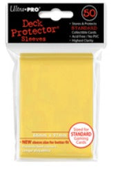 Deck Protectors - Standard Size - 50 Count Canary Yellow Ultra Pro | Cardboard Memories Inc.