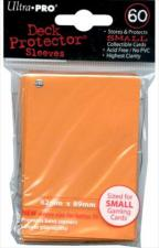 Deck Protector Sleeves - Small Yu-Gi-Oh! Size - 60 Count Orange Ultra Pro | Cardboard Memories Inc.