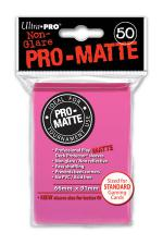 Deck Protectors - Standard Size - 50 Count Matte Bright Pink Ultra Pro | Cardboard Memories Inc.