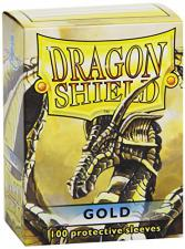 Dragon Shield Sleeves - Gold Arcane Tinmen | Cardboard Memories Inc.