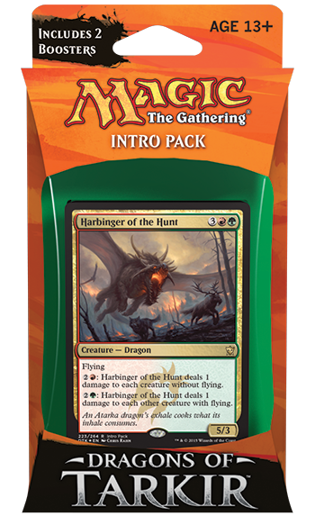Magic the Gathering - Dragons of Tarkir - Furious Forces - Intro Pack