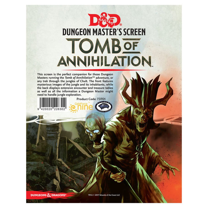 Dungeons & Dragons - Tomb of Annihilation Dungeon Master's Screen Wizards of the Coast | Cardboard Memories Inc.