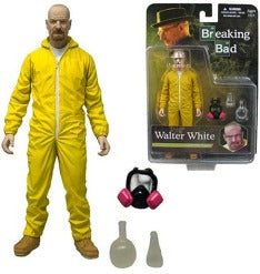 Breaking Bad Walter White Hazmat Suit Collectible Figure Mezco Toys | Cardboard Memories Inc.
